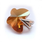 Přívěšek Swarovski motýl crystal copper