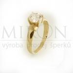 prsten žluté zlato
