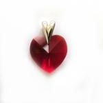Srdce s krystalem Swarovski